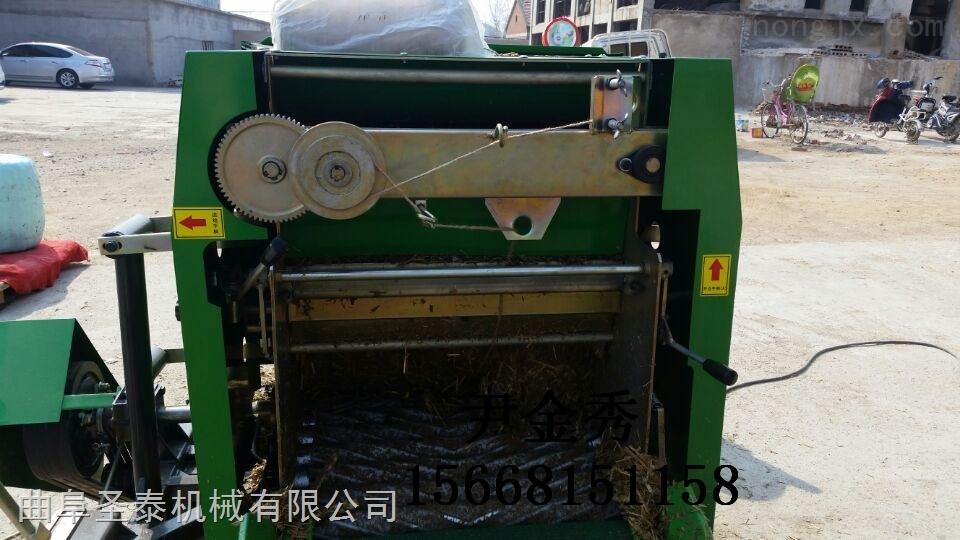 5552A-玉米秸秆打捆包膜一体机 青贮饲料包装机