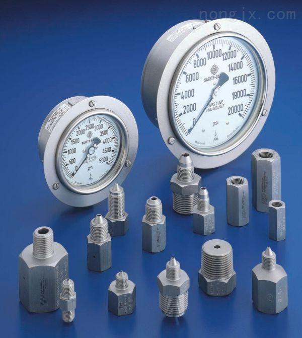 Y50MM径向真空负压表隔膜压力表ITM进口微压表