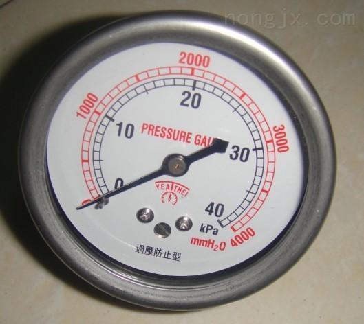 厂家生产矿用双针耐震压力表/充油表/BZY-60/KJ10/DN10插杆式连接