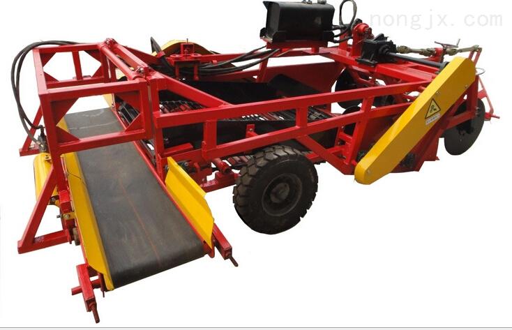 4U-2B 系列六垄归一土豆收获机 4U-2B系列土豆收获机主要用于收获土豆、大蒜、地瓜、花生等地下根茎农作物。该机具有收获效率高、破损率低、运转轻快无震动、不堵草、漏土快、结构简洁、使用寿命长等特点。该土豆收获机具已获得国家局批准实用新型与外观设计两项. Due to its excellent performance with high working efficiency, this machine is mainly used for the harvest of potato、garlic、pa