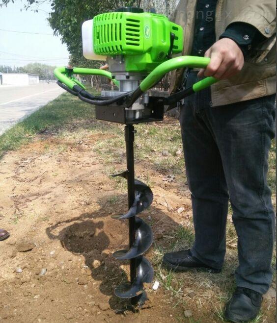 厂家批发埋桩打坑机 小型栽树挖坑机 挖树坑机器