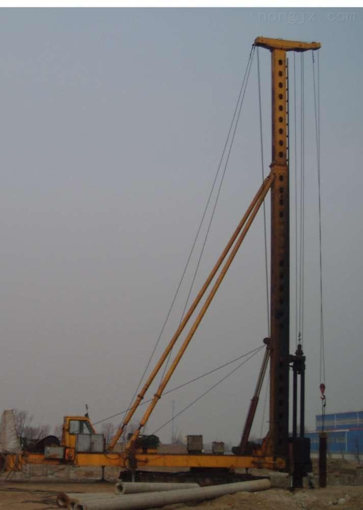 长螺旋钻机柴油锤打桩机两用桩机打CFG桩钻孔机预制管桩打桩机