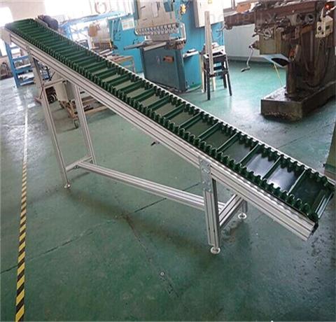 防滑皮帶提升機 食品擋板流水線輸送帶 PVC不銹鋼皮帶機