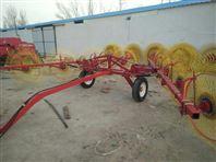 厂家供应拖拉机带的8盘牵引指盘搂草机牧草搂集翻晒机械 牧草机械