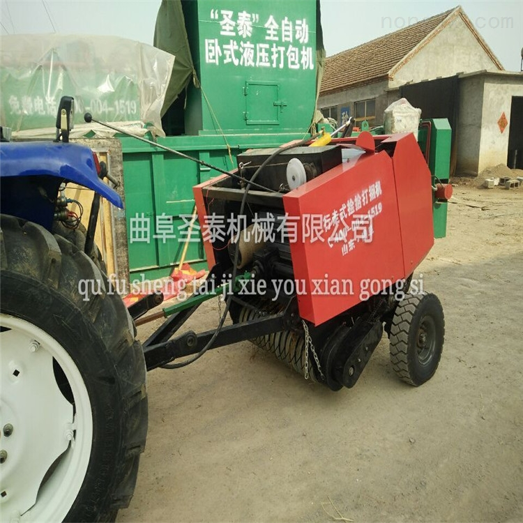 麦秆打捆机 自动捡拾捆草机
