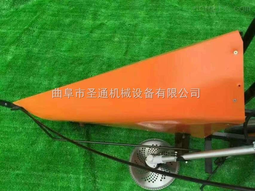 甘蔗田高效率收割机 手扶自走式单行收割机