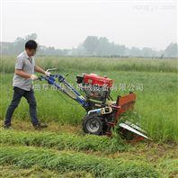 二驱自走水稻收割机 牧草侧倒割晒机