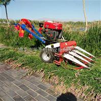 排放整齐一边倒水稻收割机 双轮驱动手扶割晒机