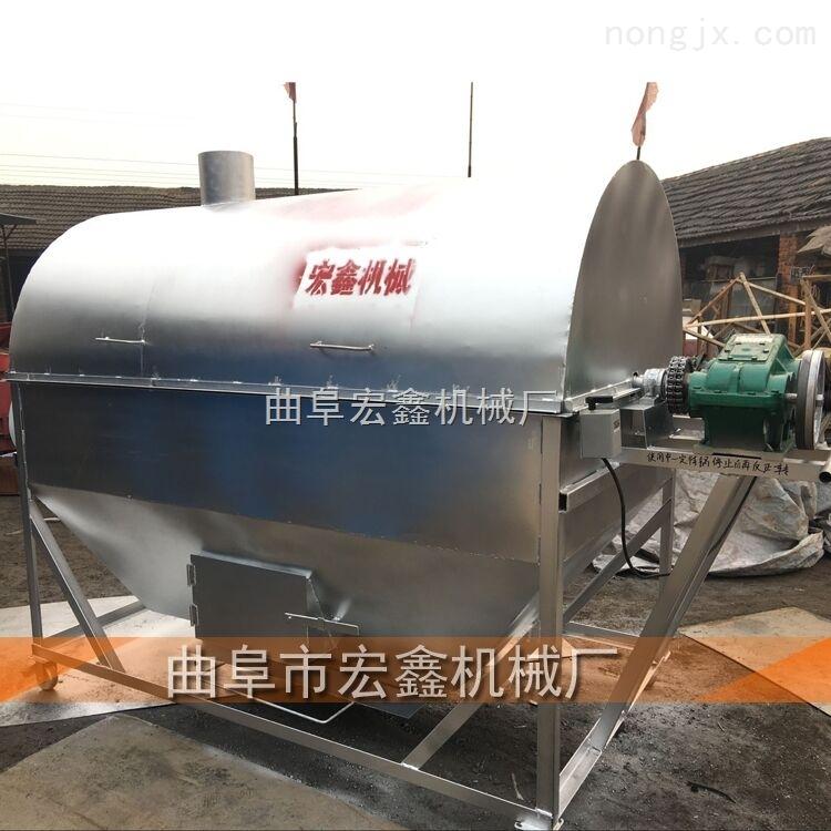 休闲食品加工设备图片 电加热炒药机 哪里卖炒瓜子花生机器