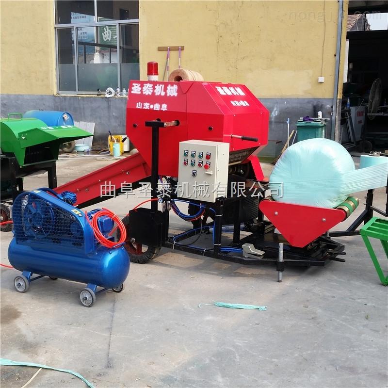青贮饲料包装机 畜牧养牛青储包膜机