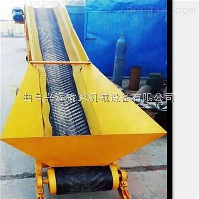 齒輪帶動的皮帶輸送機 輸送粉料密封的皮帶機x1