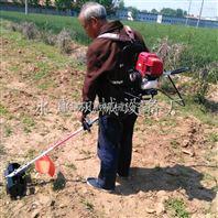 茶園小型除草機汽油背負式割草松土機視頻