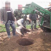 四轮拖拉机后置式植树挖坑机