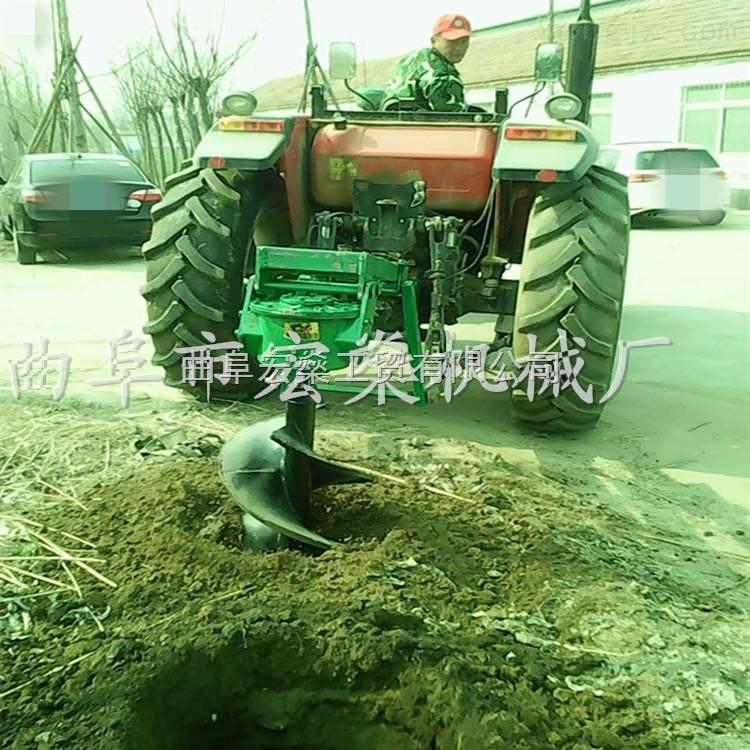 松原市大型拖拉機種植挖樹坑機打樁機