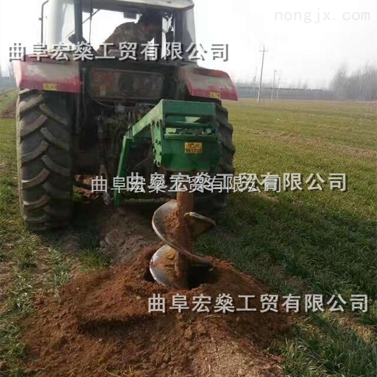 HS-巴彦县单人轻便植树挖坑机 螺旋式水泥柱立杆地坑机