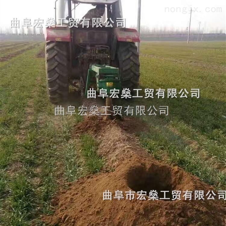 四轮拖拉机挖坑机 植树钻坑机 树苗打孔机