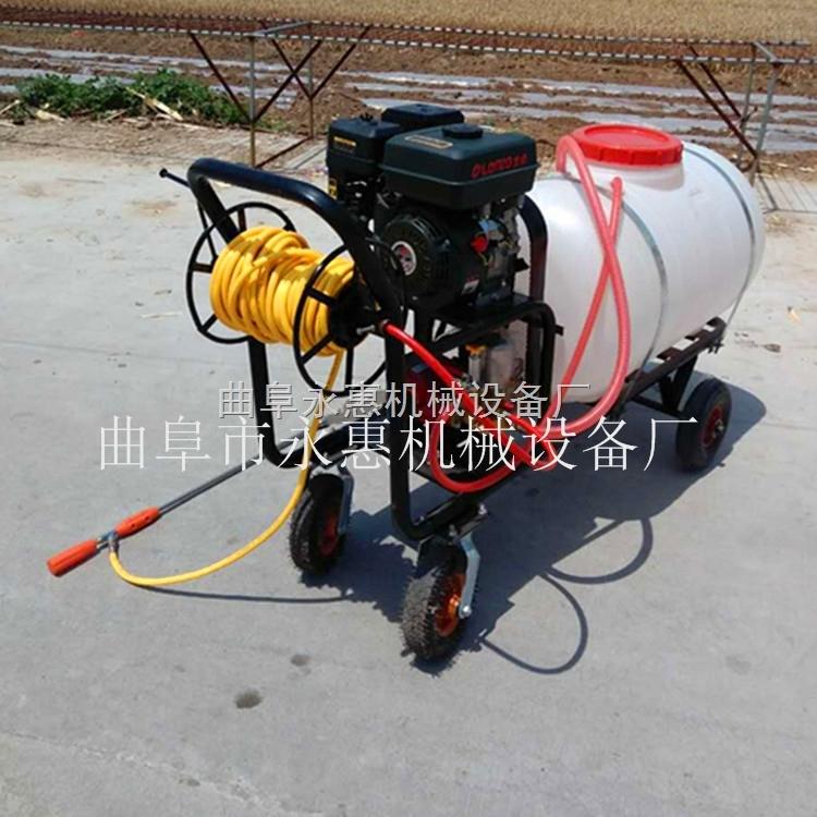 打藥車汽油機帶動,推車式農用高壓噴霧器柱塞泵