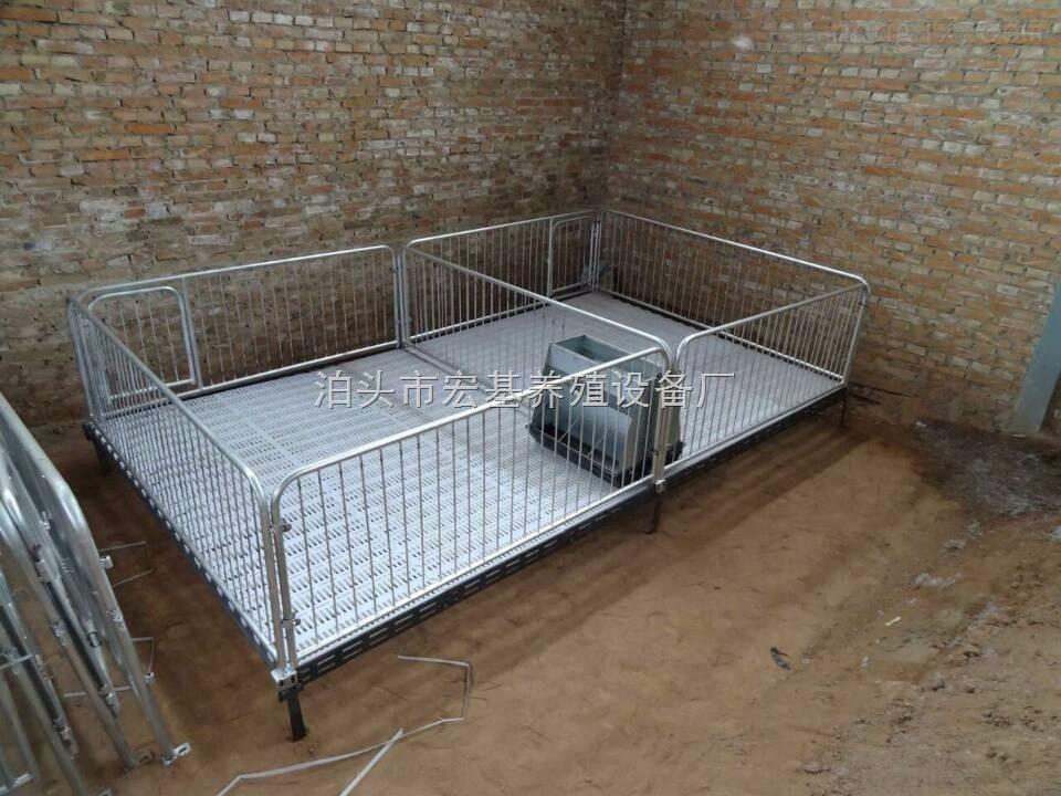 宣威养猪设备高培保育栏双体铸铁杠小猪活动床