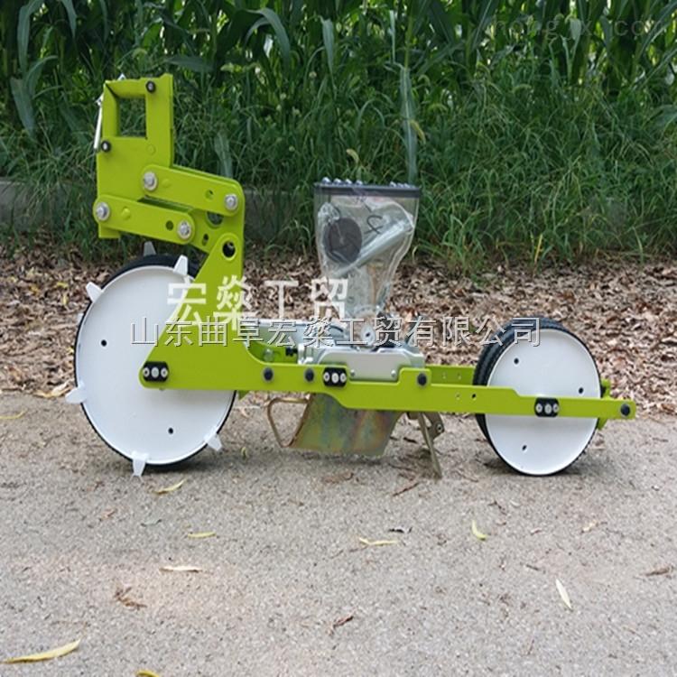 谷子精播机 小型播种机 人力手推式蔬菜播种机