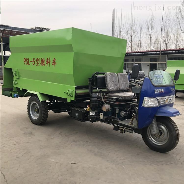 新能源电动撒料车 小型牛场用饲喂车