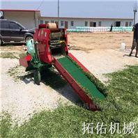 滄州秸稈打捆包膜機 小麥草揉絲打捆裹包機