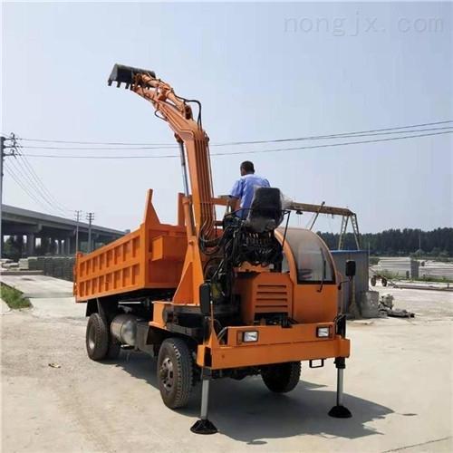 山东直供 多功能四不像随车挖 车载挖掘机
