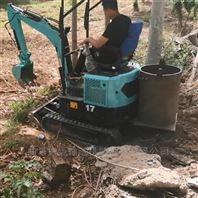 動力強勁微型挖掘機_履帶式液壓挖溝機ljy7