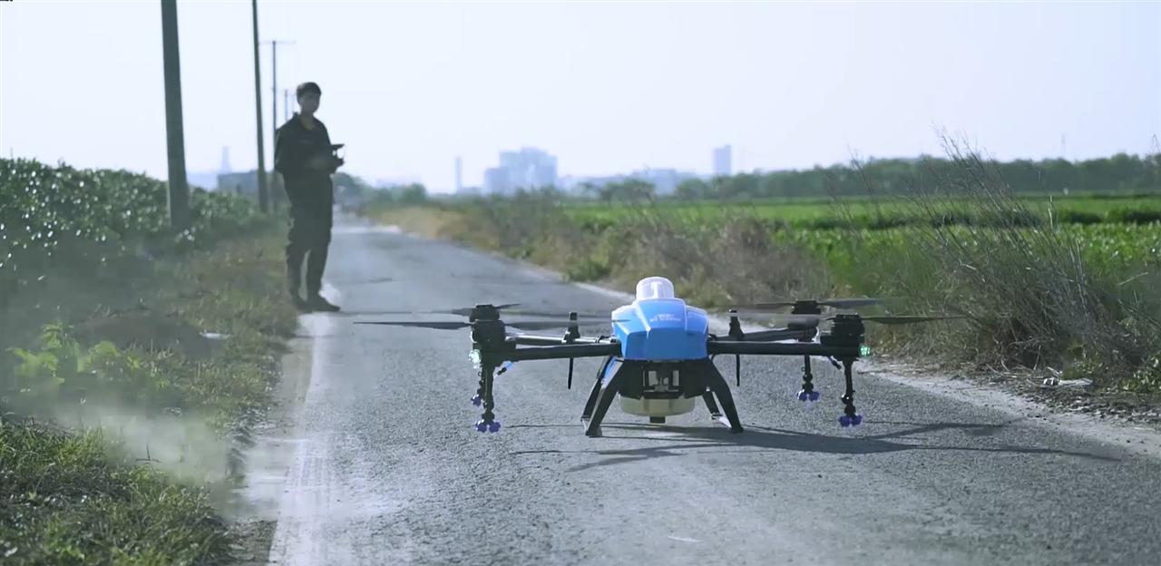 啟飛智能A16植保無人機拆箱視頻