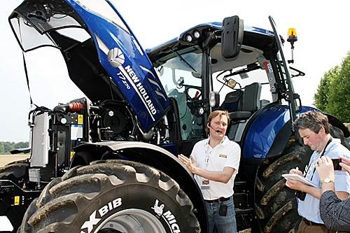 纽荷兰:重视可持续农业 新推甲烷动力拖拉机图片