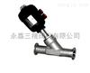 SJ691W-16P不锈钢卡装式气动角座阀